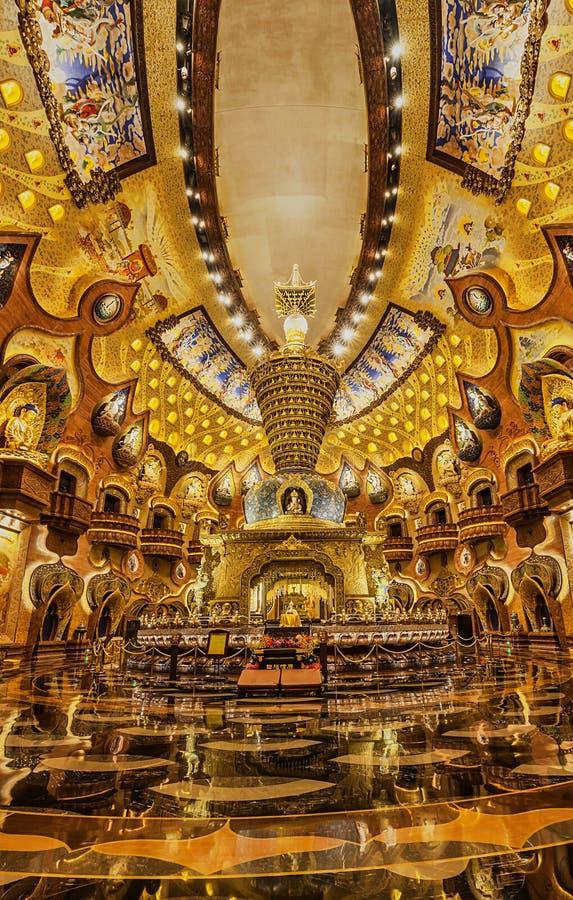 Interior do palácio de Nanjing Niushoushan Foding fotos de stock royalty free