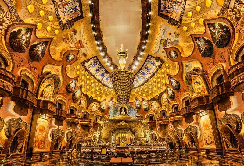 Interior do palácio de Nanjing Niushoushan Foding imagens de stock royalty free