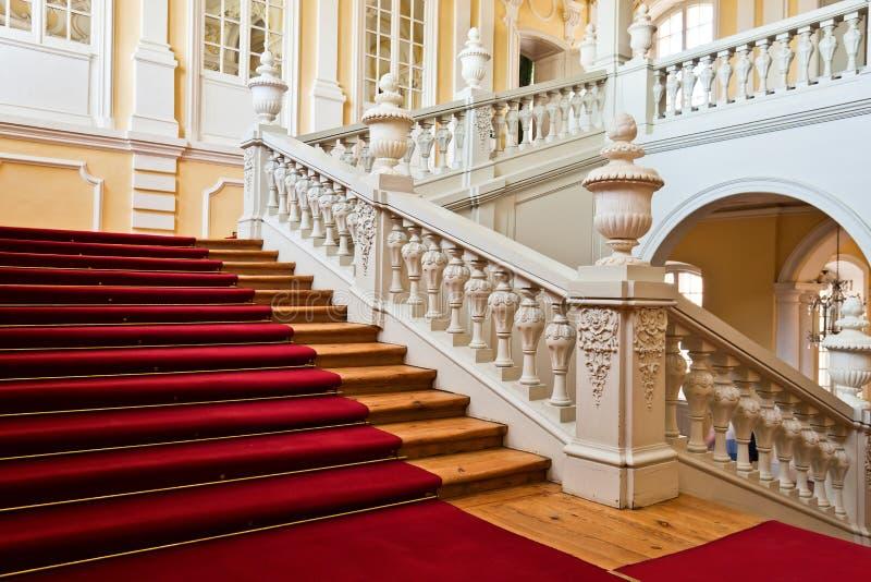 Interior do palácio de Rundale imagem de stock