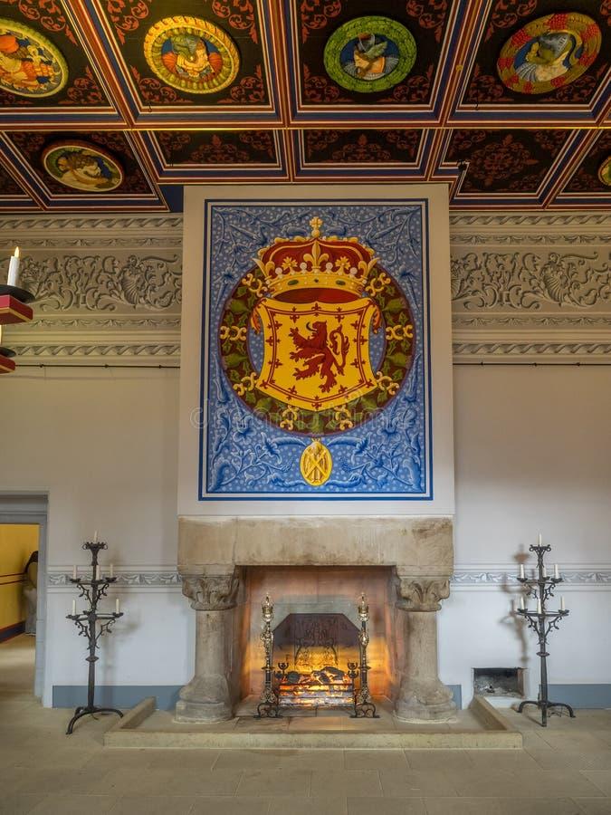 Interior do palácio dentro de Stirling Castle imagem de stock royalty free