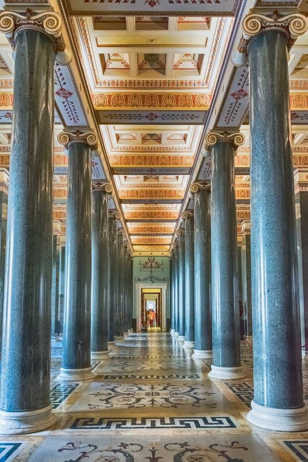 Interior do palácio do inverno, museu de eremitério, St Petersburg, foto de stock