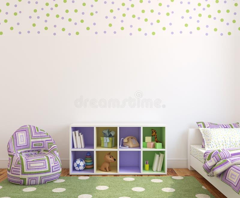 Interior do playroom. ilustração do vetor
