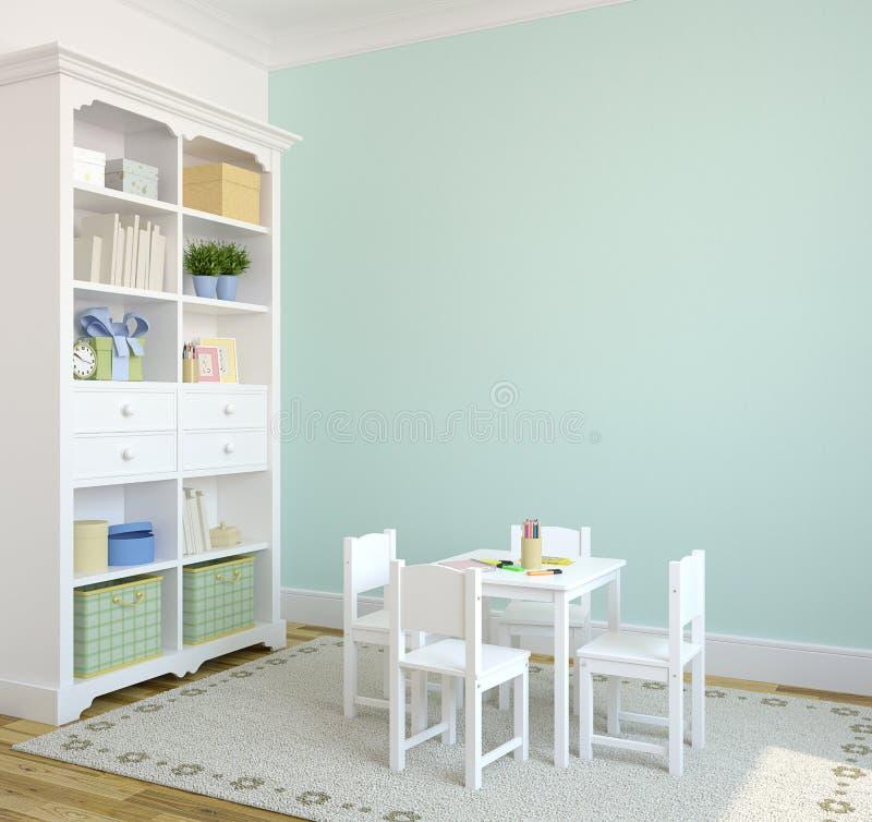 Interior do playroom. ilustração royalty free