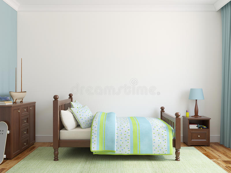 Interior do Playroom. ilustração stock