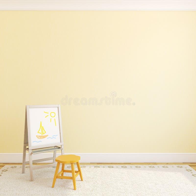 Interior do playroom ilustração stock
