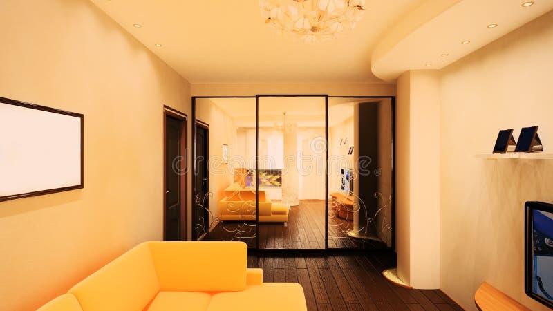 interior do quarto 3d ilustração stock
