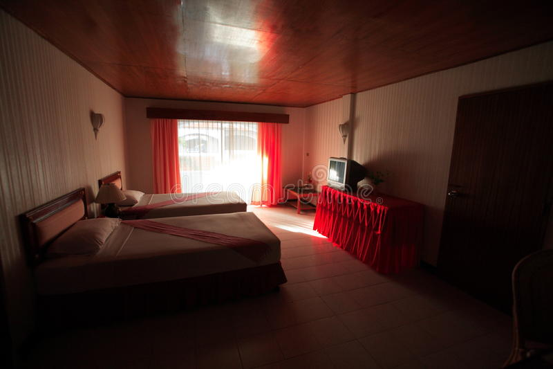 Interior do quarto, bedchamber no hotel, capoeira no recurso de Asi imagem de stock royalty free