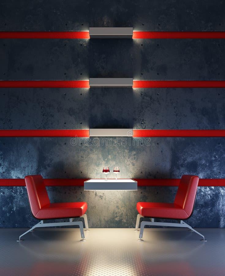 Interior do quarto da sala de estar ilustração do vetor