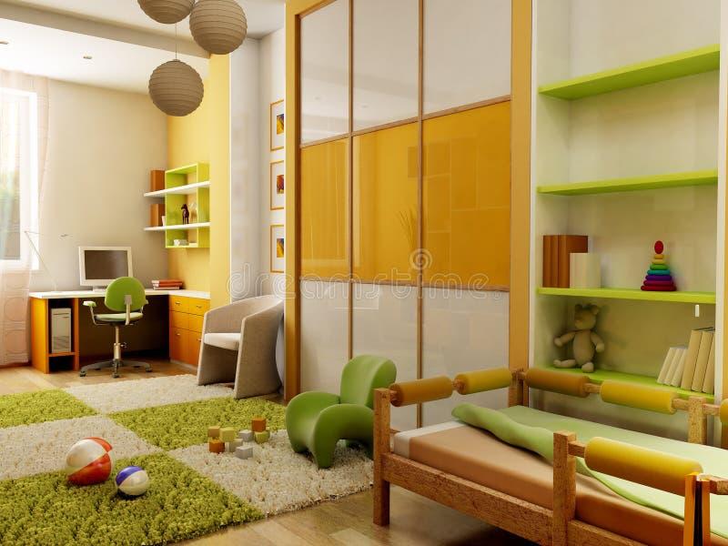 Interior do quarto de crianças ilustração royalty free