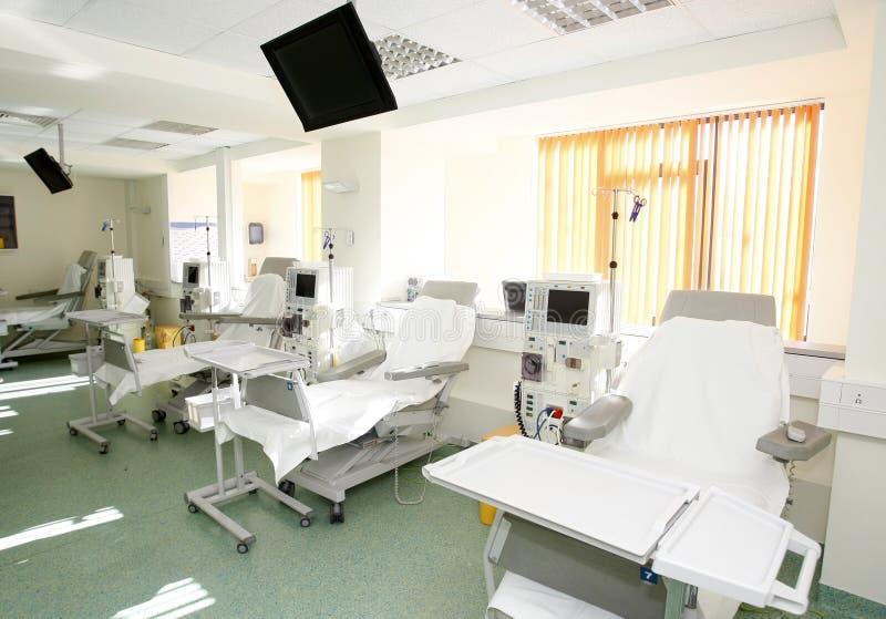 Interior do quarto de hospital foto de stock