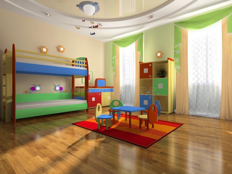 Interior do quarto do bebê ilustração royalty free
