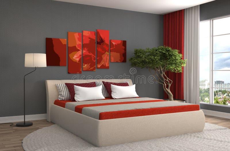 Interior do quarto ilustração 3D ilustração royalty free