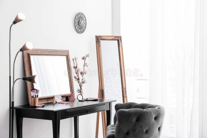 Interior do quarto moderno fotografia de stock