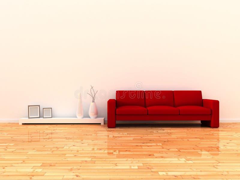 Interior do quarto moderno ilustração royalty free