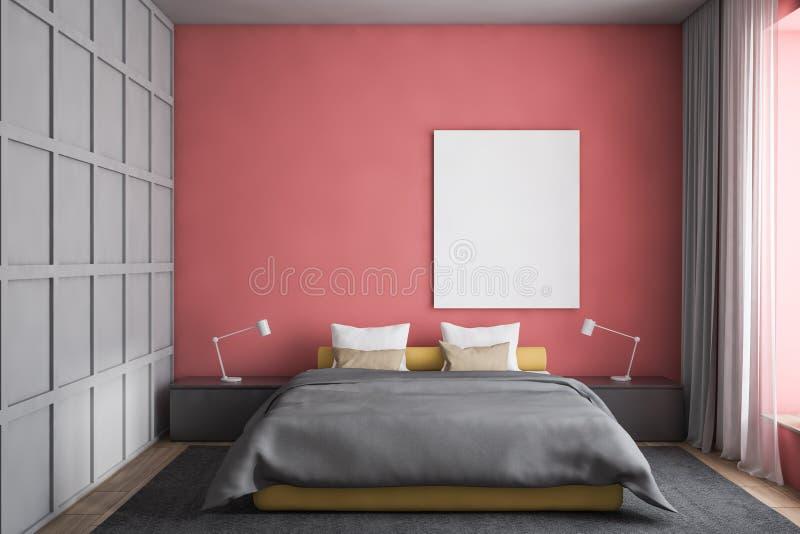 Interior do quarto do projeto moderno Zombaria acima do cartaz ilustração stock