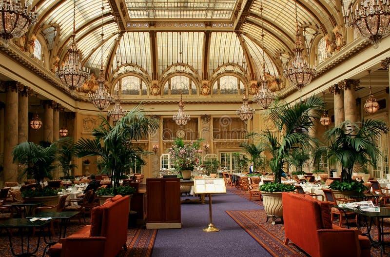 Interior do restauran do hotel de luxo, San Francisco imagens de stock