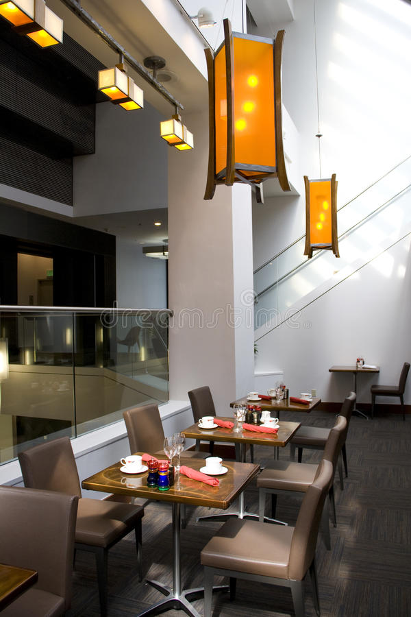 Interior do restaurante imagem de stock royalty free