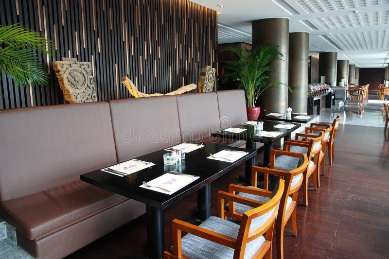 Interior do restaurante fotografia de stock royalty free