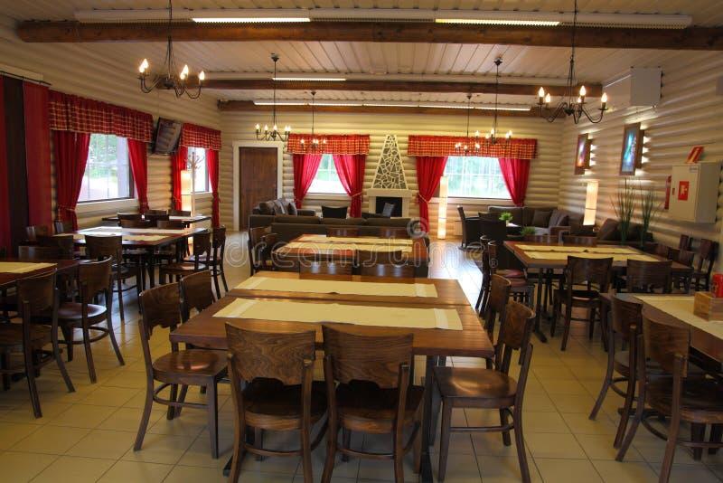Interior do restaurante em Rovaniemi fotografia de stock royalty free