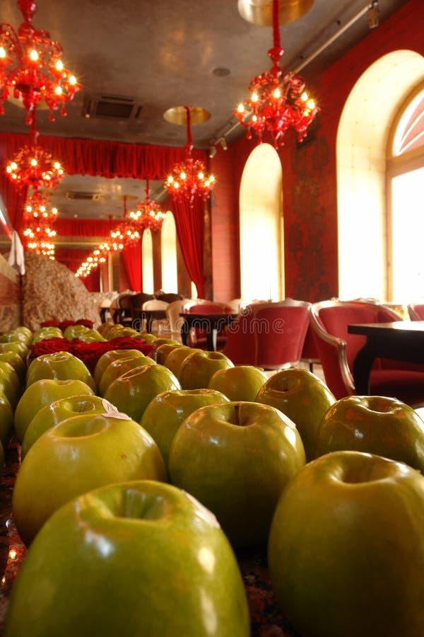 Interior do restaurante na perspectiva fotos de stock