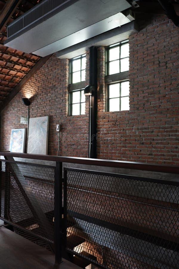 Interior do s?t?o na casa frente e verso fotografia de stock
