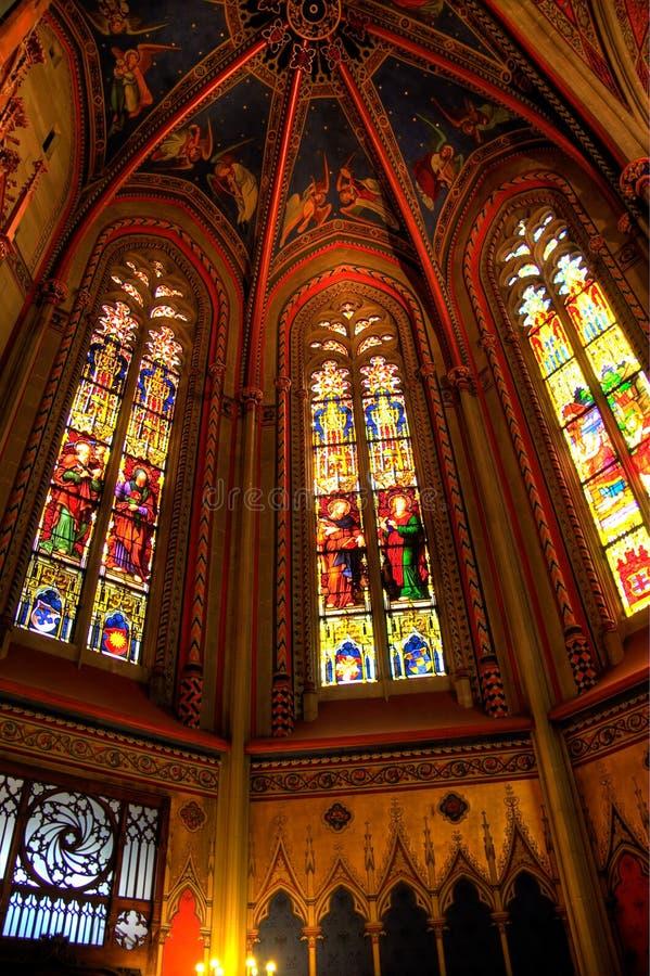 Interior do Saint Pierre da catedral em Genebra imagem de stock royalty free