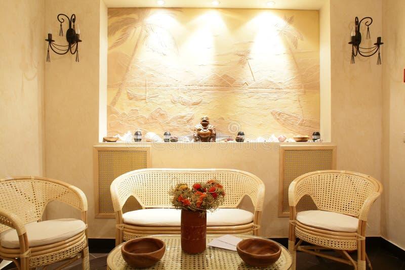 Interior do salão de beleza moderno fotos de stock royalty free