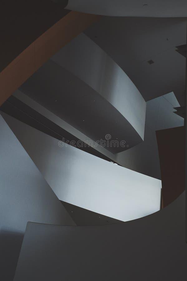 Interior do salão de Walt Disney Concert fotos de stock