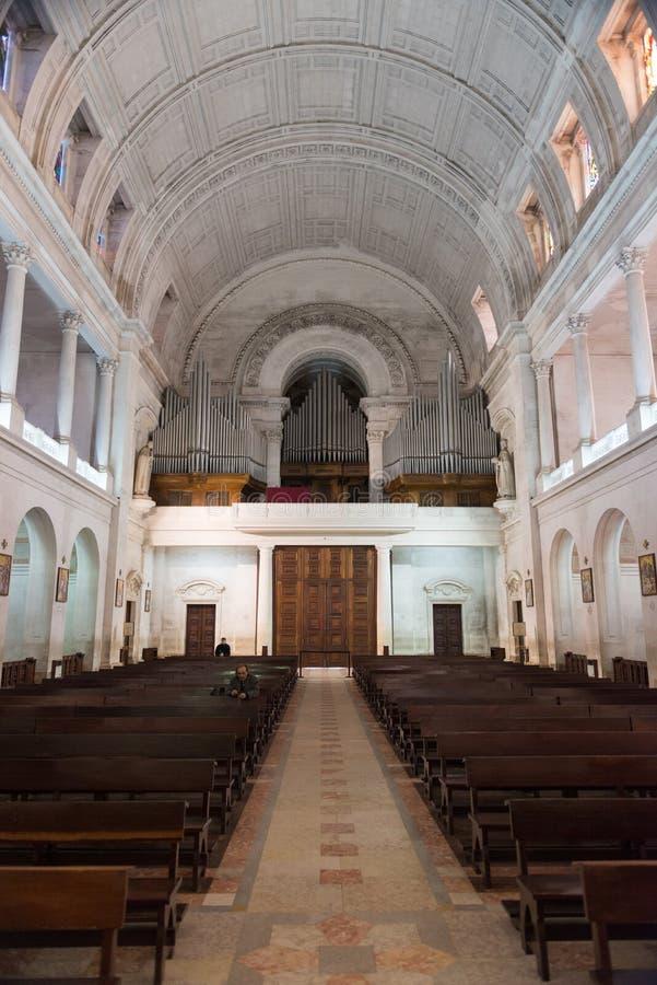 Interior do santuário de Fatima, Estremadura, Portugal imagens de stock