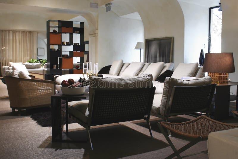 Interior do sentar-quarto fotografia de stock royalty free