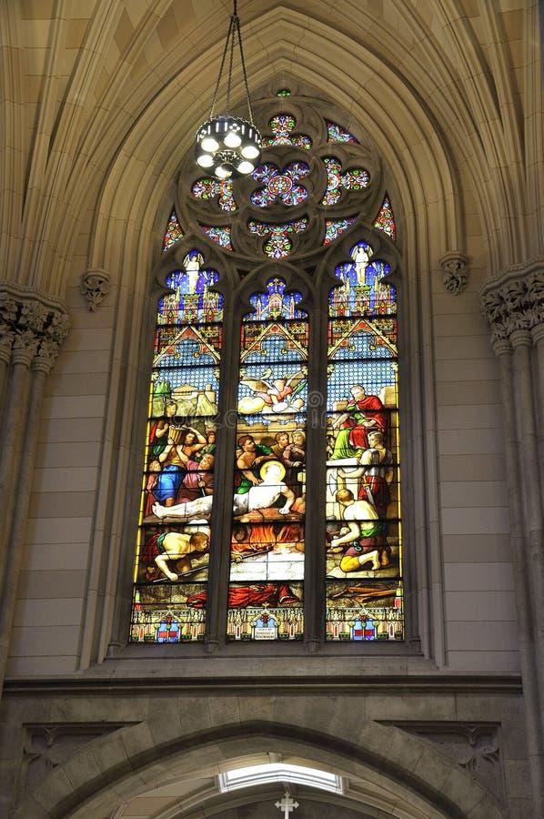Interior do St Patrick Cathedral do Midtown Manhattan em New York City no Estados Unidos imagem de stock royalty free