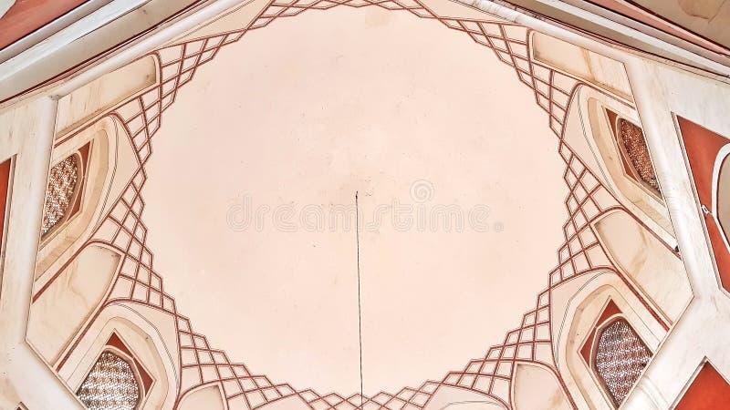 Interior do túmulo do ` s de Humayun do imperador de Mughal imagem de stock royalty free
