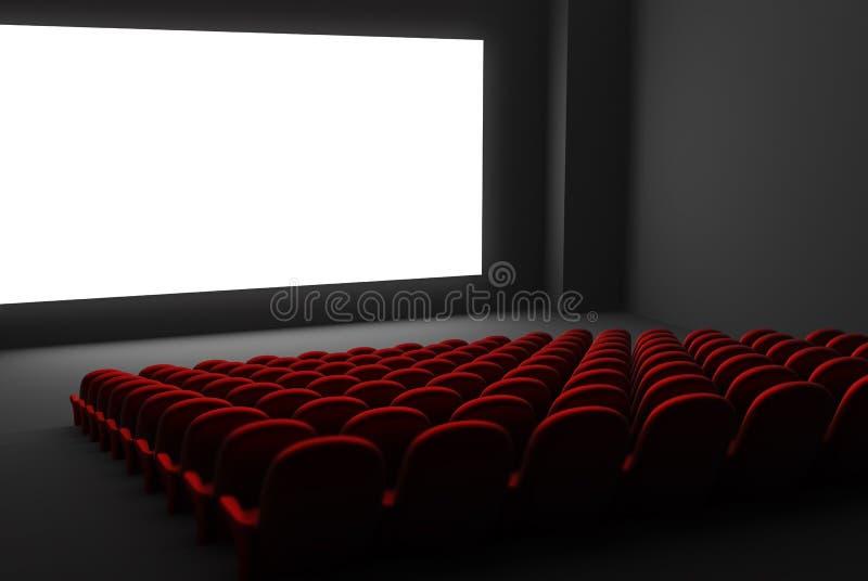 Interior do teatro de filme ilustração stock