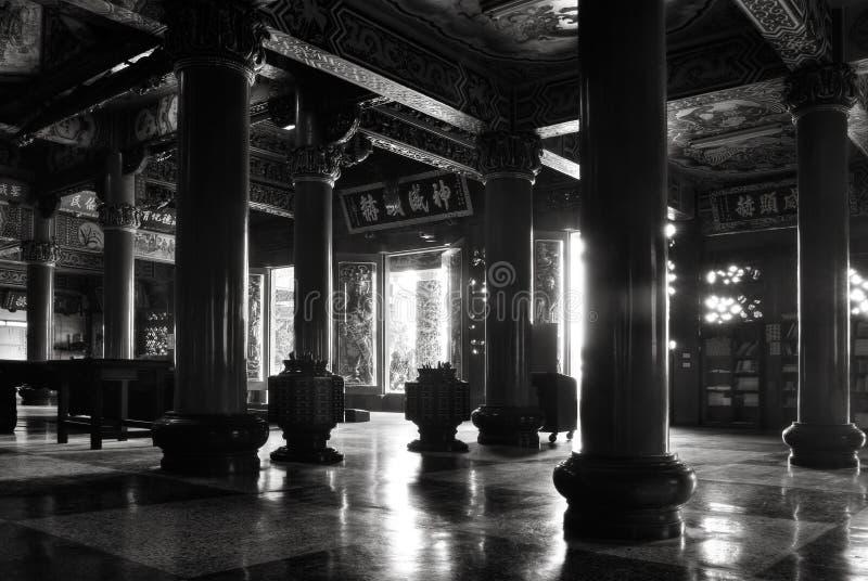 Interior do templo do chinês tradicional fotografia de stock royalty free