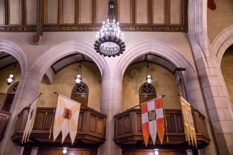 Interior do templo maçônico de Detroit Detroit, Michigan, EUA imagens de stock royalty free