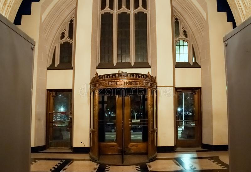 Interior do templo maçônico de Detroit Detroit, Michigan, EUA foto de stock