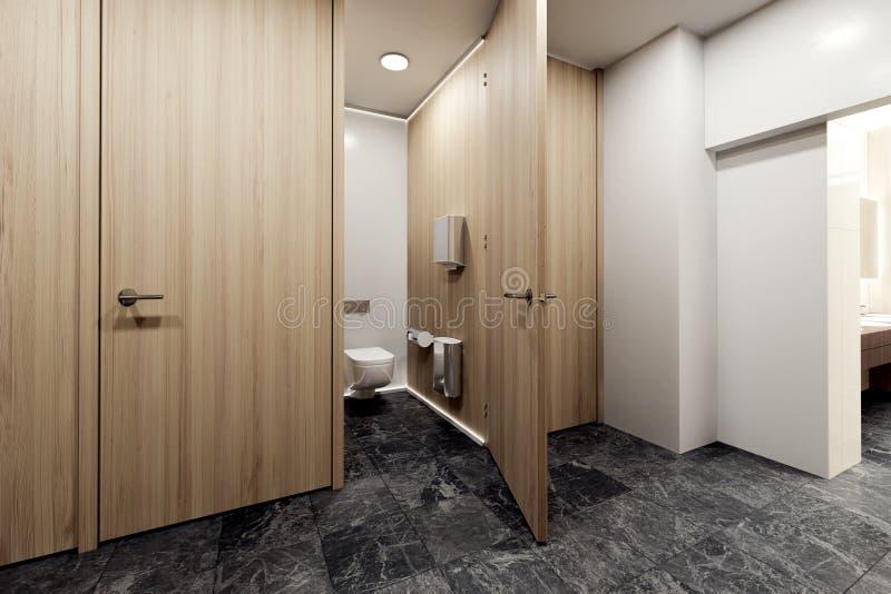 Interior do toalete público ilustração do vetor