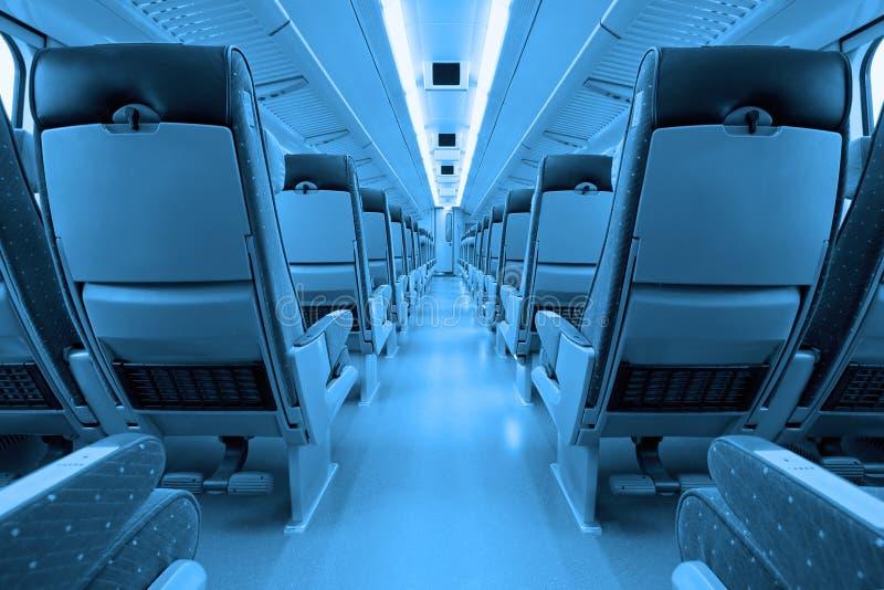 Interior do trem fotografia de stock royalty free