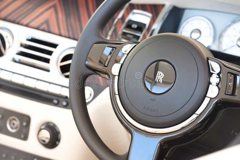 Interior do veículo de Rolls Royce foto de stock