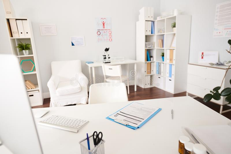 modern doctors office. Download Interior Of Doctors Office In Modern Clinic Stock Image - Furniture, Occupation O