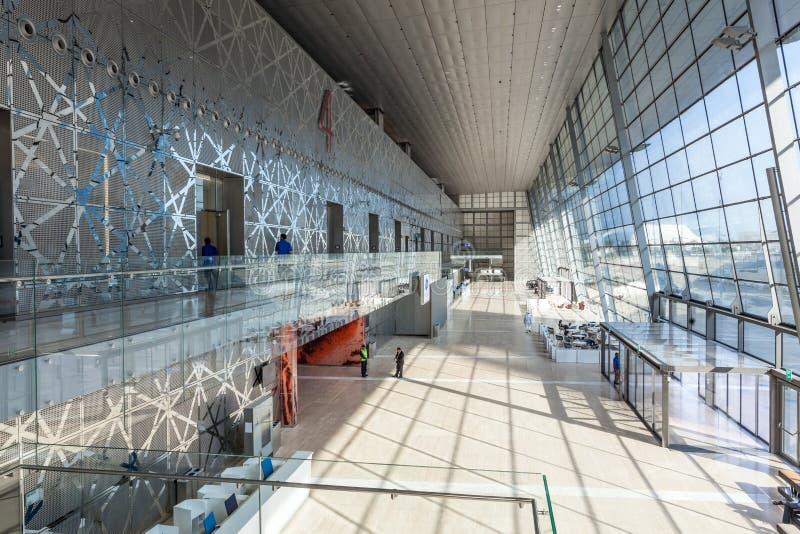 Interior of the Doha Convention Center, Qatar royalty free stock photos