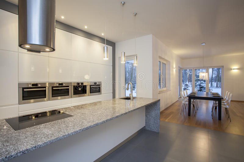 Interior dos desenhistas - cozinha imagem de stock