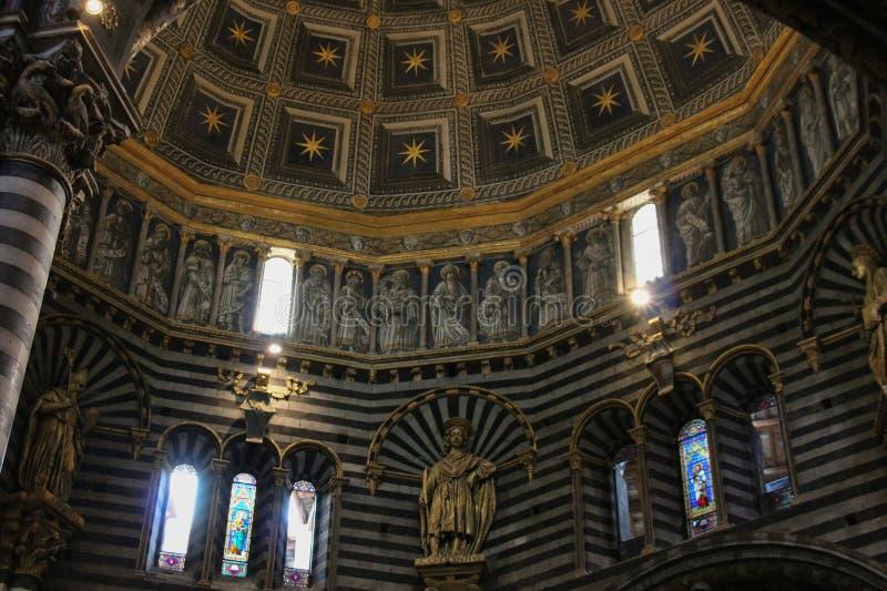 Interior of the Duomo di Siena. Metropolitan Cathedral of Santa Maria Assunta. Tuscany. Italy. stock photo