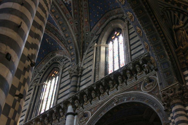 Interior of the Duomo di Siena. Metropolitan Cathedral of Santa Maria Assunta. Tuscany. Italy. royalty free stock photos