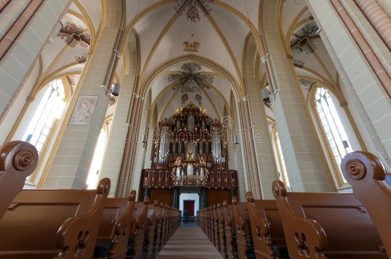 Interior of dutch church stock photography