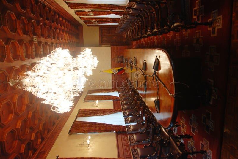 Interior of Ecuador Presidential palace stock photos