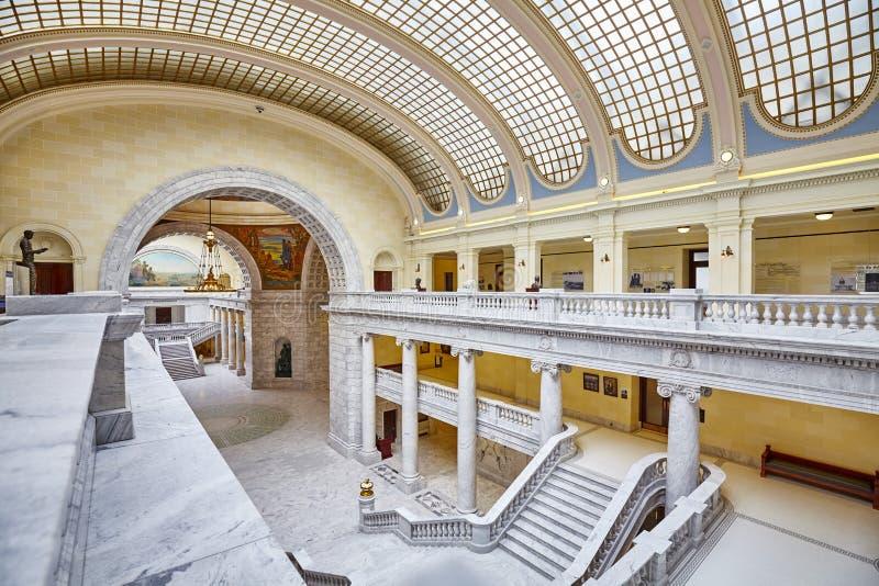 Interior elegante da construção do Capitólio do estado de Utá fotografia de stock