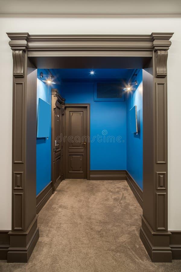 Interior elegante en hotel foto de archivo