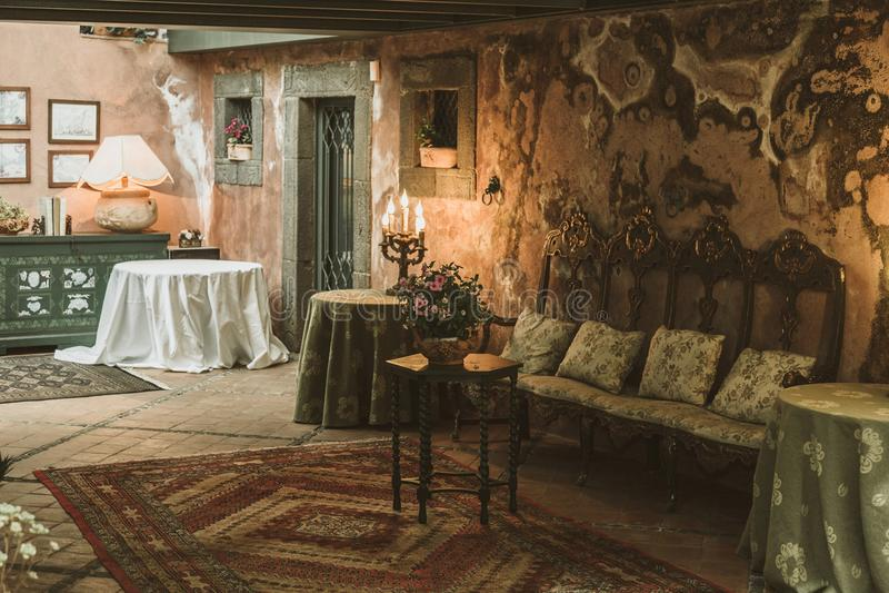 Interior elegante lamentable fotos de archivo libres de regalías
