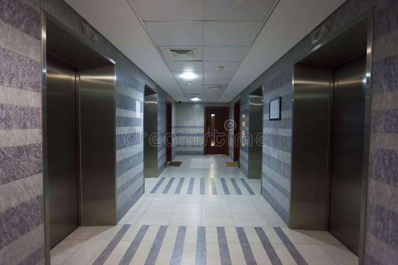 Interior of elevator hall royalty free stock photo